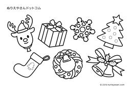 無料の塗り絵クリスマスリースの検索結果 ぬりえやさんドットコム