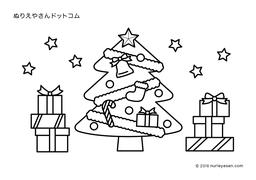 無料の塗り絵クリスマスツリーの検索結果 ぬりえやさんドットコム